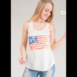 American Flag Graphic Front Tank